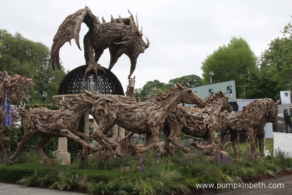 Incredible driftwood dragon and horse sculptures by James Doran-Webb.