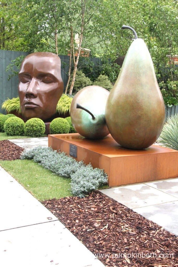 Sculpture by Simon Gudgeon at the RHS Chelsea Flower Show.