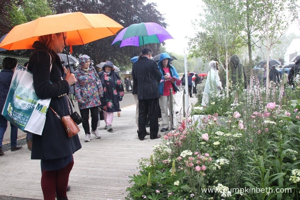 Visitors enjoying the gardens despite the inclement weather!