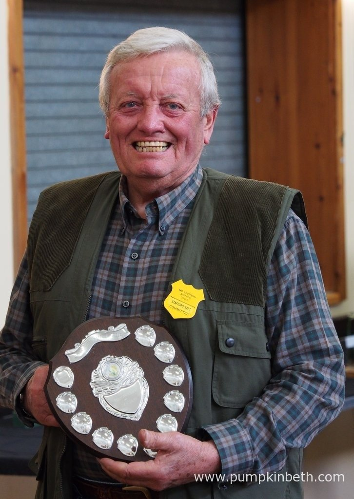 Stafford Salt is pictured with his shield which was presented at The Daffodil Society Mid Southern Group Spring Show at Cobham.