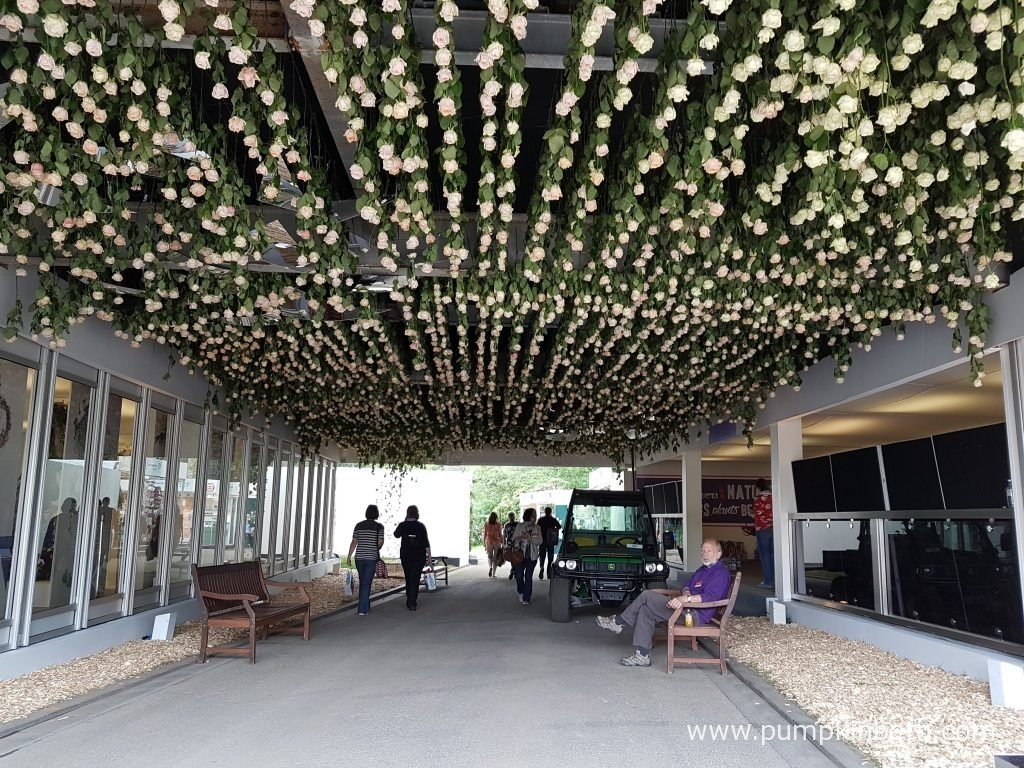 This immersive rose tunnel installation celebrates the beauty of fresh roses, it was created by designer Joseph Massie, especially for the RHS Chelsea Flower Show 2016.