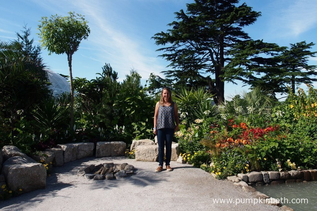 Jennifer Jones, pictured in the Journey Latin America's Inca Garden that she designed for the RHS Hampton Court Palace Flower Show 2016.