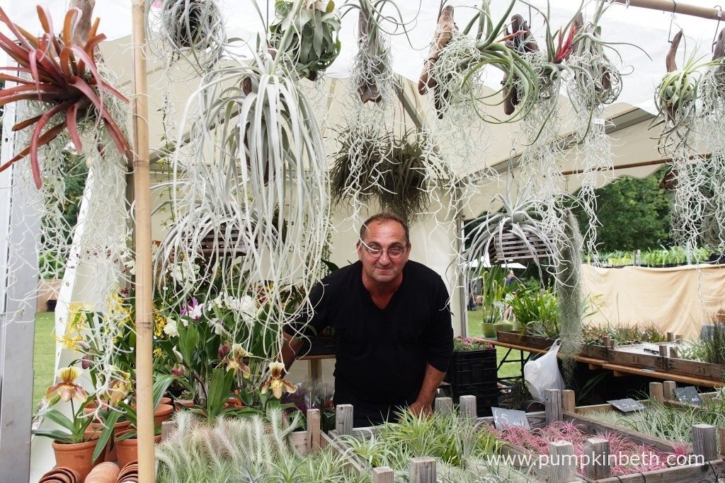 Aldo from Aldo Air Plants, with his beautiful air plants and orchids.