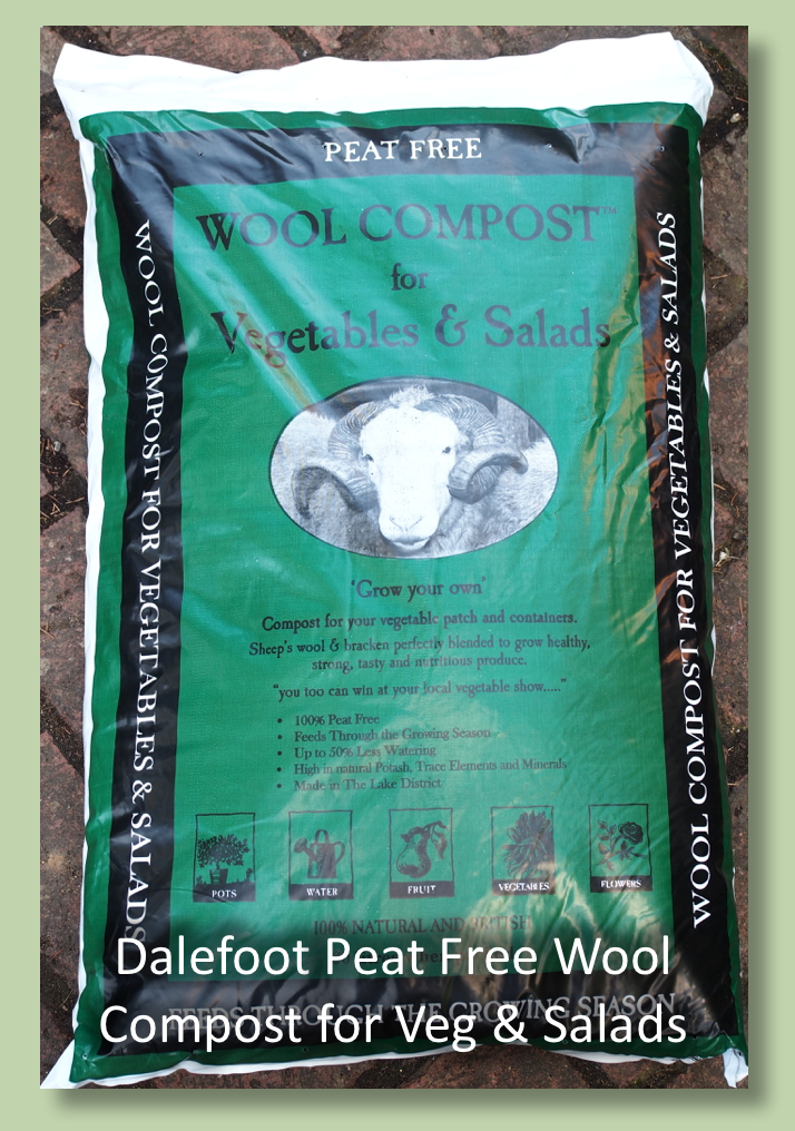 Dalefoot Wool Compost for Vegetables and Salads