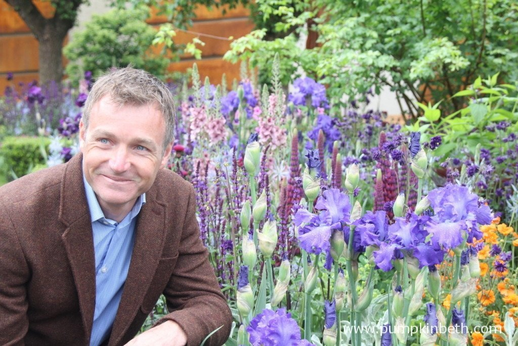 Chris Beardshaw in his Gold Medal winning Garden at the RHS Chelsea Flower Show