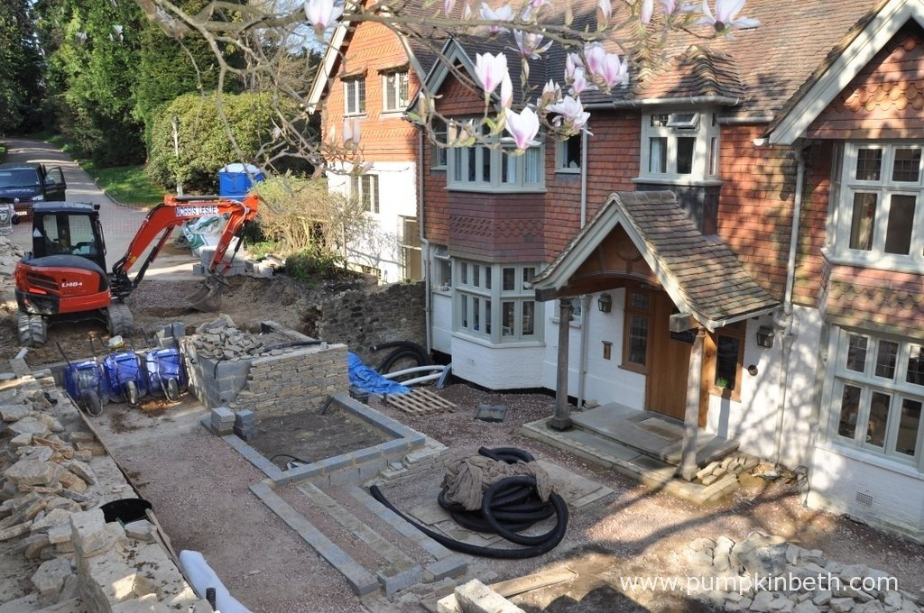 This garden was designed and built by NealeRichards Ltd. This photograph was taken during the construction of the garden in April 2013 by NealeRichards Ltd.