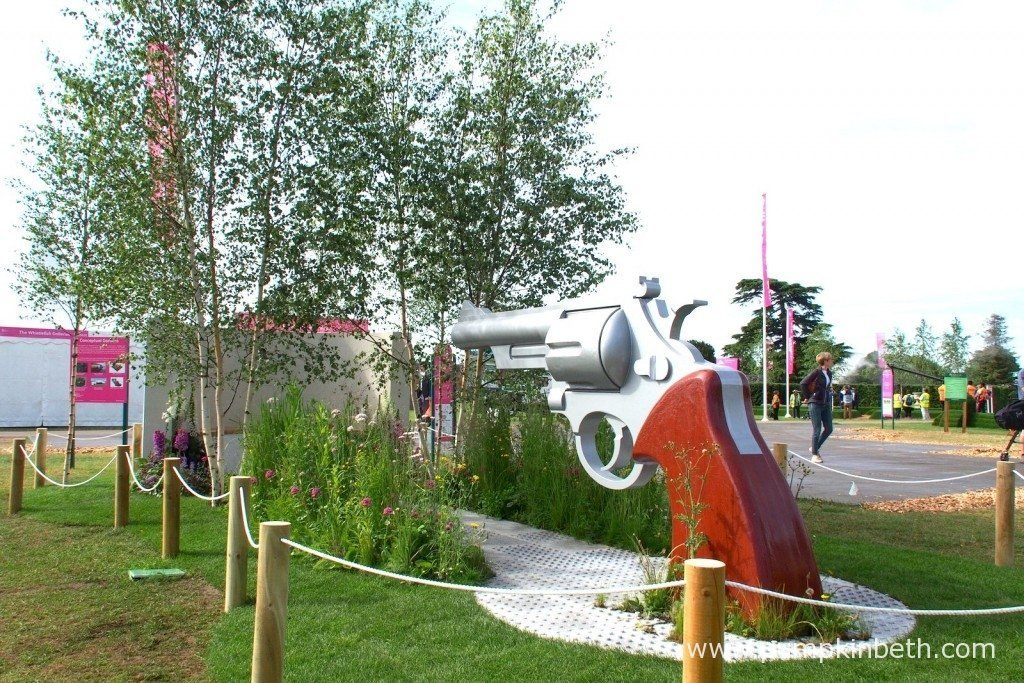 Ready...Aim...Flower! This garden was designed by Simon Webster, built by Burnham Landscaping and sponsored by Acorn Mobility Services Ltd.