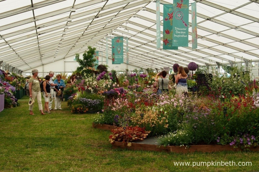 The RHS Hampton Court Palace Flower Show is a huge Show! There's so much to see and so many plants to look at, enjoy and purchase. It's a great place to go shopping!