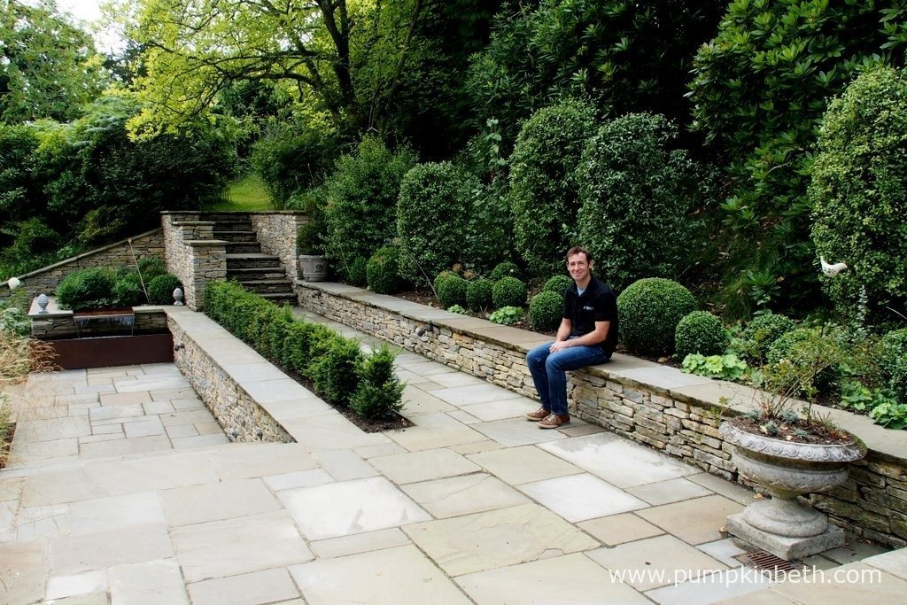 David Neale, pictured in August 2015, in one of the many gardens that David has designed and constructed. This garden was built in April 2013.