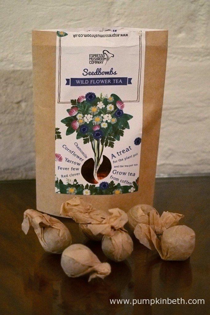 The Espresso Mushroom Company's Wildflower Tea Seedbombs.