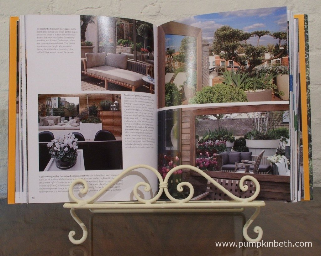 There are lots of beautiful and inspiring photographs of gardens throughout Stephen Woodhams book, 'Garden Design Solutions', which is published by Jacqui Small LLP.