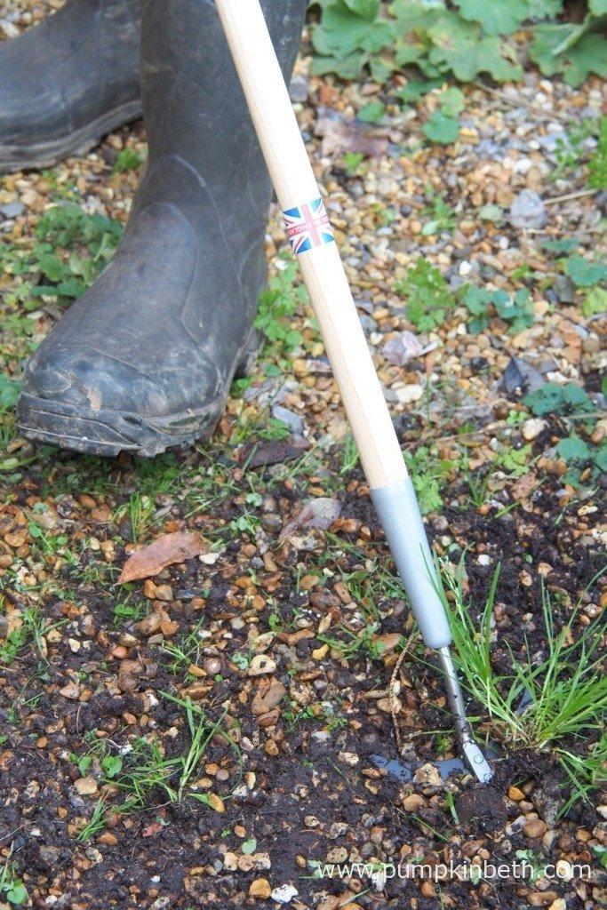 Here's the Burgon & Ball Weed Slice in action on gravel. The arrow shaped blade of the head of the Weed Slice really cuts through weeds and gravel with ease.