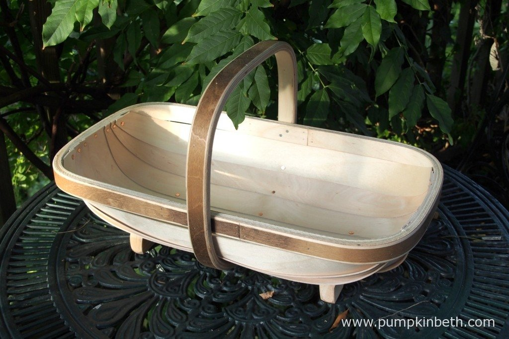 This is my hand-crafted Trug Makers trug, mine is No. 7 - it's a large trug, ideal for harvesting and displaying fruit and vegetables. The Trug Makers offer a variety of different sized trugs, all are hand-crafted and made to last.