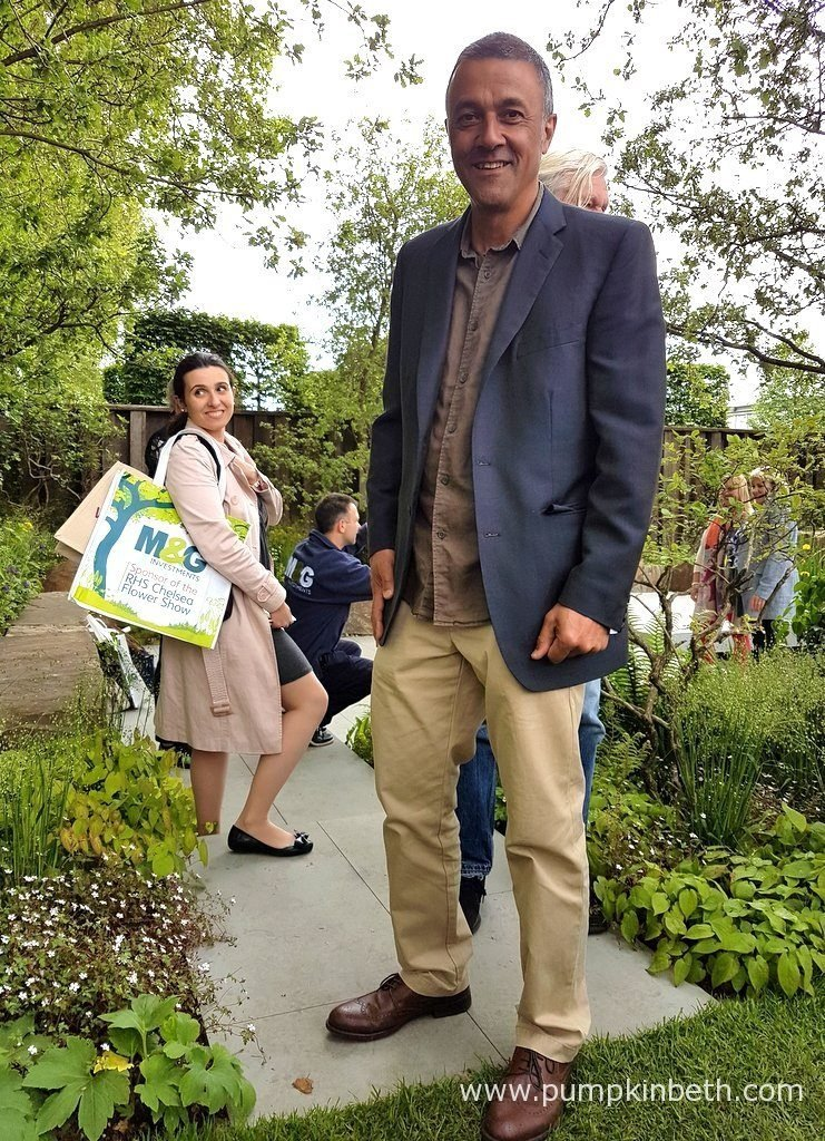 Garden designer Cleve West, pictured in the Gold Medal winning M&G Garden, that he designed for The RHS Chelsea Flower Show 2016. Swatton Landscape, who built The M&G Garden, were presented with The Best Construction Award to recognise the quality of the build of the garden.