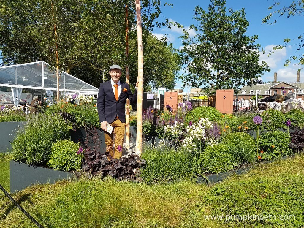 Lee Bestall, pictured in The Sir Simon Milton Foundation Urban Connections Garden, that he designed for The RHS Chelsea Flower Show 2016.