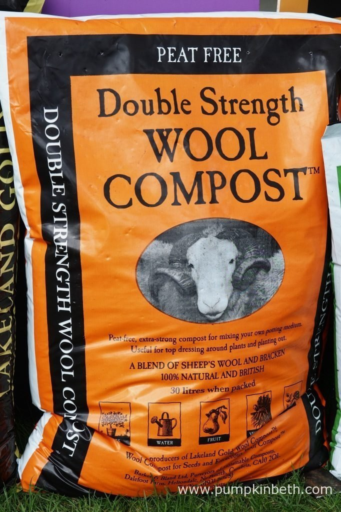 Prior to planting out the Sweet Pea plants in the trials ground, for my 2016 Sweet Pea Trial, I used Dalefoot Composts Double Strength Wool Compost to enrich the soil in the trials area.