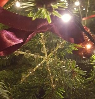 One of Sarah Beevers Jewellery Design's hand-made Christmas decorations.
