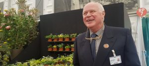 Jonathan Hogarth and his Hostas at the RHS Chelsea Flower Show 2017