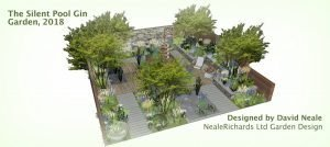 David Neale and his design for the Silent Pool Gin Garden