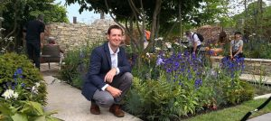 David Neale and the Silent Pool Gin Garden, at the RHS Chelsea Flower Show 2018